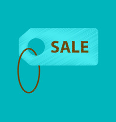 Flat shading style icon sale label vector