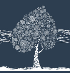 Floral mandala tree for coloring book and prints vector