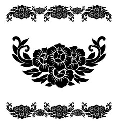 flower pattern decoration vector image