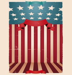 Fourth of july - american background vector
