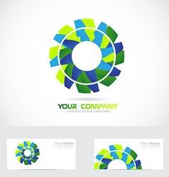 Gear or flower logo vector image