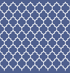 geometric pattern in arabian styleblue and white vector image