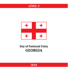Georgia day of national unity vector