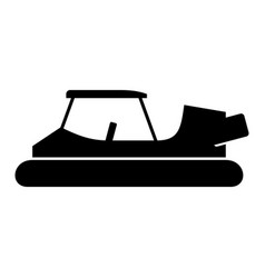 golf cart hovercraft vector image