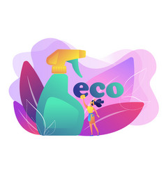 Green cleaning concept vector