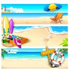 Holiday on Beach vector image