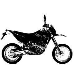 KTM 640 bike vector image
