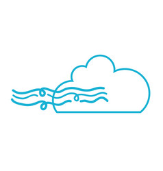line nice cloud with fresh wind weather vector image