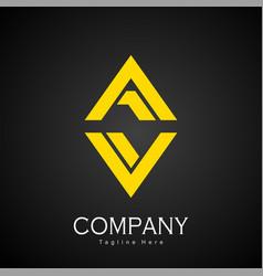 Luxury gold logo latter av logo vector