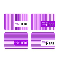 Modern Business Cards with Purple Stripes vector image