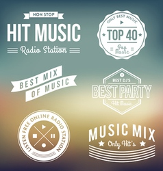Music Labels vector