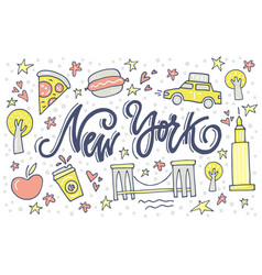 new york symbols vector image