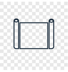 parchment concept linear icon isolated on vector image