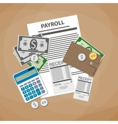 Payroll invoice concept vector