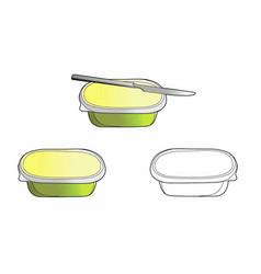 Plate butter vector