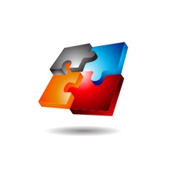 Puzzle Logo vector image