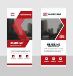 Red roll up business brochure flyer banner design vector
