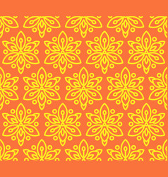 Seamless pattern with sunflowers vector
