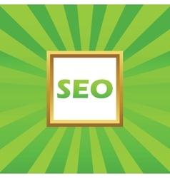 SEO picture icon vector image
