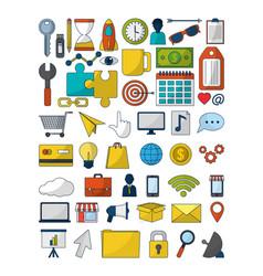 Set of digital marketing vector