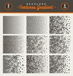 set seamless textures gradient vector image