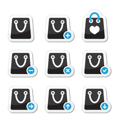 Shopping bag icons set vector image