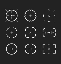 sniper aim bullseye scope icons set modern vector image