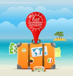 Summer seaside vacation Hot summer season vector