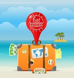 Summer seaside vacation Hot summer season vector image
