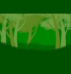 Tree forest scene vector