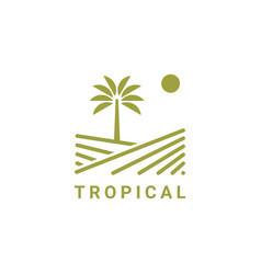 tropical logo design symbol inspiration vector image
