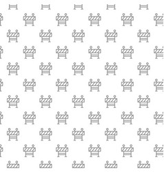 unique digital fence seamless pattern with various vector image