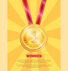 winner poster and text sample vector image