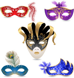 Carnival masks vector