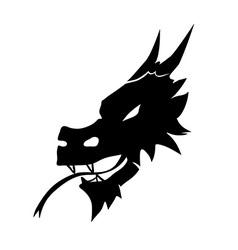 Devil head symbol vector image vector image
