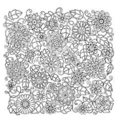Ethnic floral retro doodle background pattern vector
