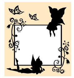 fairies silhouette vector image vector image