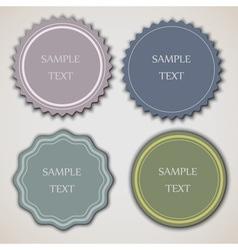 Four vintage labels vector image vector image