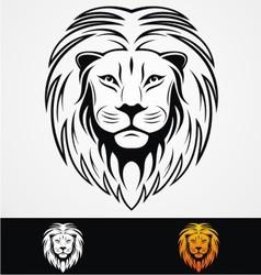 Lions Head Tribal Mascot vector image vector image