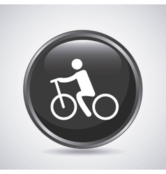 Man and cycle icon Sport design graphic vector image vector image