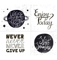 set of inspirational quotes hand drawn vector image vector image