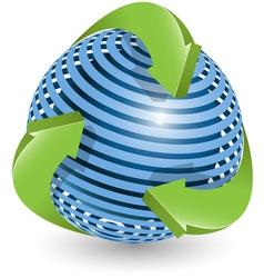arrows around blue ball vector image vector image