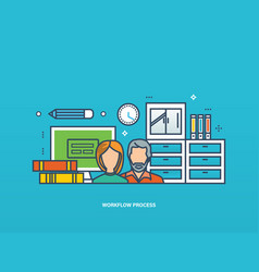 collaboration and workflow business planning vector image