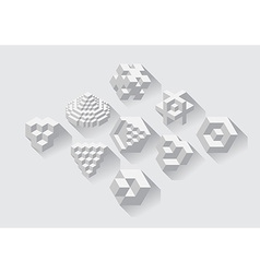 Cubic objects vector image vector image