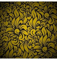 Gold Seamless Floral Background vector image vector image