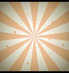 Orange vintage grunge ray background vector