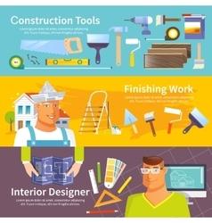Renovation Banner Set vector image