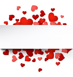 Valentines card with hearts vector image
