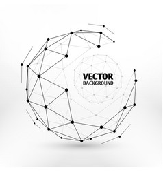 Broken connection network 3d polygon wireframe vector image vector image