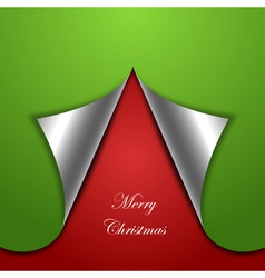 chirstmas tree background vector image vector image